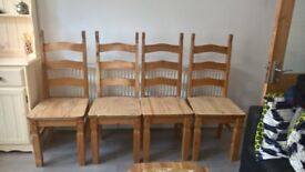 Mexican Corona dining chairs - £20 for 4