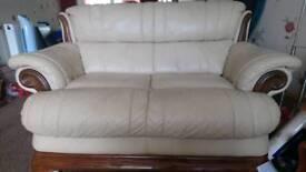 2 seater leather sofa