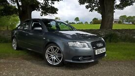 Audi A4 SLINE,170bhp,FULL service history,ONE owner, Mot'd. not bmw, golf, passat, mercedes, civic.
