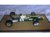 1 : 18 scale A Model Jim Clark Lotus 49 British GP winner Formula One model car.