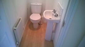 Cloakroom toilet, bowl & cistern only - White
