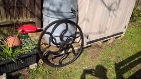 Large Victorian Industrial Toothed Mill Cog Wheel Cast Iron