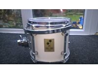 """German Made Undrilled SONOR FORCE 3000 TOM 10"""" x 9"""" WHITE incl RIMS Mount + Arm"""