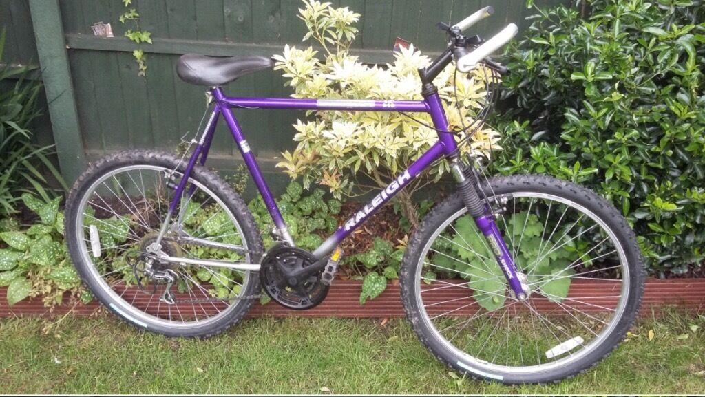 Men S Purple Retro 90s Raleigh Activator Mountain Bike