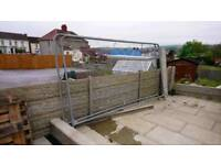 Two Harris fence panels