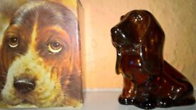 Avon Basset Hound Perfume Bottle With Original Box Excellent Condition