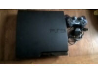 Black 320 GIg Ps3 Silm 40 Full installed Psn Games Plus lots of DLC