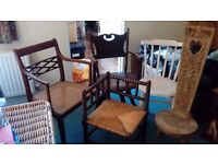 Antique chairs, 5, in need minor repairs - REDUCED QUICK SALE