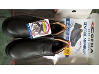 New Italian Leather Safety Shoes. TOE CAP: non metallic, 100% Metal Free. Slip Resistant Sole £15