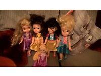 disney princess baby dolls belle rapunzel snow white and cinderella
