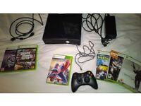 (3of3) Xbox 360 slim with 250GB hard drive, controller, HDMI lead and games