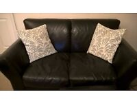 Used, real leather sofa for free!
