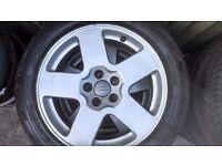 "Audi TT 4 x 16"" Alloys with tyres"