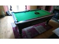 Full size slate bed Pool table