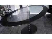 Black chrome dinning table