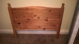 Single Pine Bed with a Sprung Matress