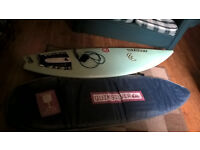 """Surfboard webber 6""""6 salomon s core 19 1/2x 2 9/16 with leash and bag used"""
