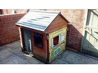 Child wooden playhouse