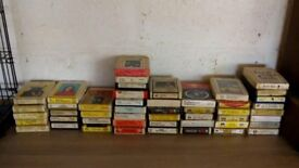 45 8 track cassettes Elvis ,The Beatles ,Queen,The Beach Boys, Slade,Charlie Pride,and many more
