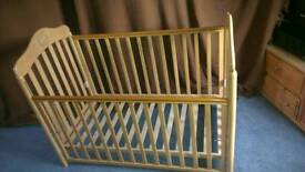 Used Cosatto dropside wooden cot without mattress