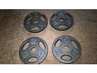 4 x 2kg Tri Grip Cast Iron Weight Plates