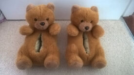 Teddy bear slippers Size M/L (approx 6/7/8 adult size)