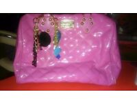 BEAUTIFUL PINK PAUL BOUTIQUE BAG WITH CHARMS