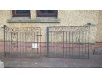 set of double gates with matching single