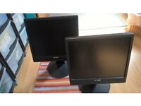 2 Sony SDM-X75K Monitors with adjustable Stands for Sale.