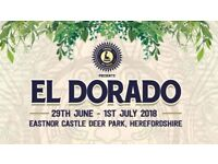 Full weekend ticket/s for El Dorado festival. Face value £143.