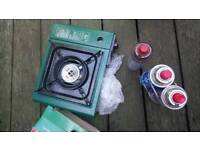 Camping gas hob brand new and 3 canisters