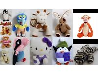 12 x Soft Toy Bundle - Teddy Bears, Penguins, Rabbits, Giraffe - Great Condition