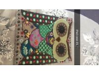Handmade owl iPad case