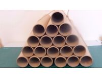 "19 ""Extra Thick Walled"" Postal Tubes 490mm L x 4mm Wall Thickness x 77mm Diameter"