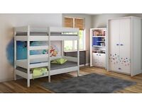 Kids Children Juniors Single Bunk Bed 200x90x160
