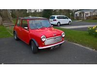 classic mini ,fully restored photographs of rebuild available