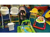 Baby Items, Bath, Walker, Sterilisor, Pushchair, Moses Basket, Highchair