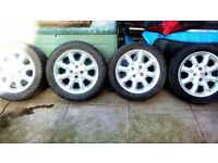 "Set of 15"" alloys mg Rover"