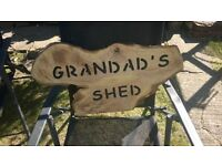 shed garage man cave signs