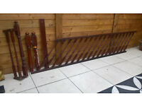 Staircase Bannister - 3m preassembled handrail, spindles & baserail, newel posts & landing return