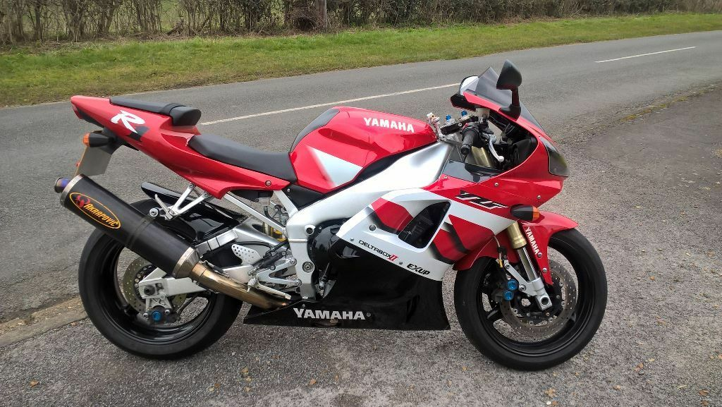 Yamaha R1 2001 Red White 1000cc 14k Miles In Newmarket