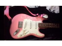 Hello Kitty Fender Electric Guitar