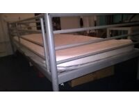 metal frame single day bed with memory foam mattress