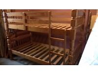 Bunk Beds - Pine, solid, sturdy bedframe, including mattresses