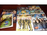 Stargate season 1 to 10 dvd plus books and mags and photo of cast member