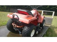 All terrain Mustang ride on lawnmower quad...vary rare