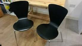 2 x black ikea chairs