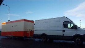 22ft showman's catering trailer 3 X wheeler axel