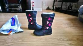 Girls long boot size 12 - NEW IN PACKAGING