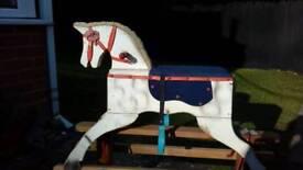 Rocking horse on tressle